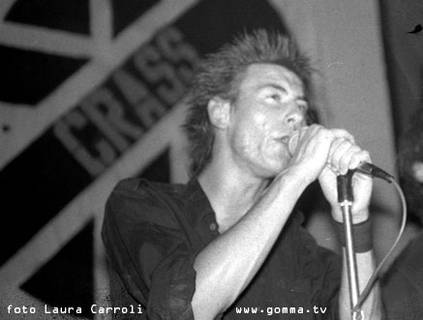 Steve Ignorant, Crass, 1982 foto Laura Carroli